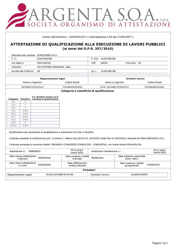 Attestato SOA