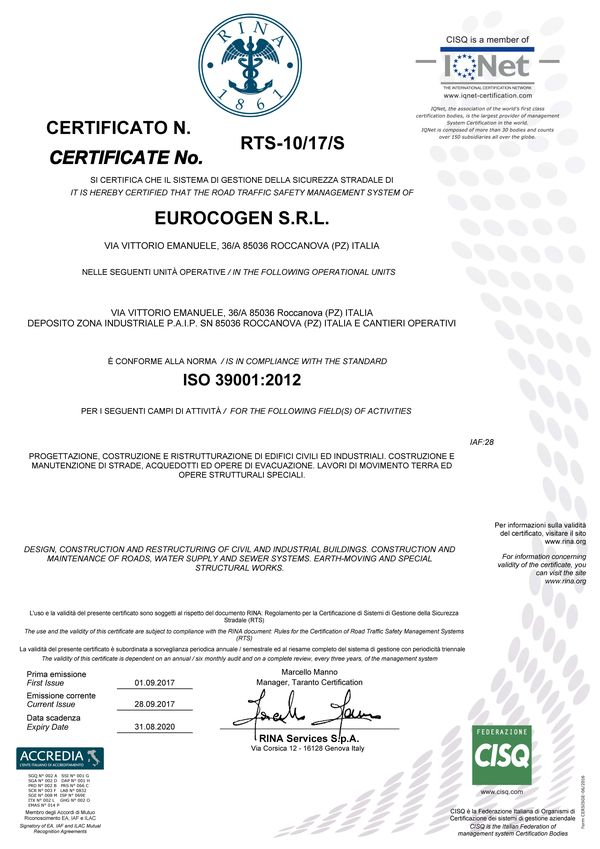 ISO 39001:2012